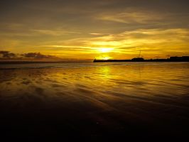 Sunset View Overlooking Coney Beach December 2012 by welshrocker