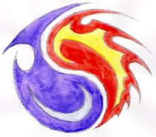 Yin-Yang, Fire and Water by Scit