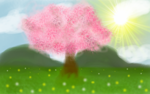 Fred the Sakura Tree by BLURRYxPUNKxRAINBOW