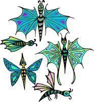 Butterfly designs by Duckweed