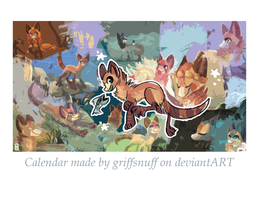 Snuffen and friends CALENDAR by griffsnuff