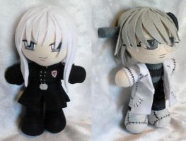 Commission, Mini Plushies Squalo and Stein by ThePlushieLady