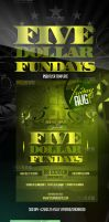 Five Dollar  Fundays PSD Flyer Template by ImperialFlyers