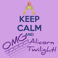 Keep Calm for Alicorn Twilight by lexxiesia