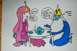 Ice King is a ladies man by ceruleancrayons
