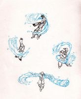 Waterbending doodls by moptop4000