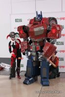 Optimus Prime at Adelaide Oz Comic-Con 2014 by Old-Trenchy