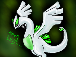 Neon Lugia Again by Canine-Wild