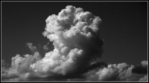 Cumulonimbus Black and white by FlamingAvocado
