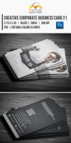 Creative Corporate Business Card 21 by EgYpToS