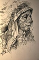 Tribal chiefs sketch by banhatin