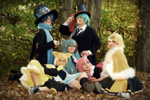Mr. Alice Cosplay Group by CocaBeliLight