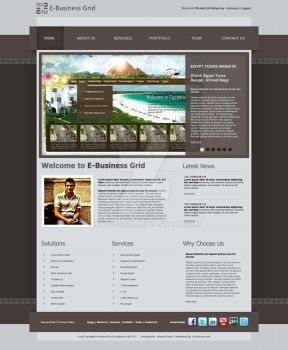 E-Business Grid Website by XtrDesign