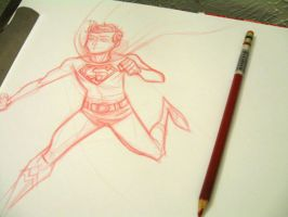 Superboy Sketch by dryponder