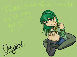 Green girl by kitty4699