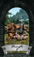 Skyrim Tarot 8 - Strength by Whisper292