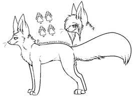 Scene Fox Line art by coffaefox