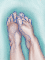 Just a Foot Study by BlackLavenderSoul
