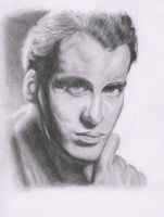 Christopher Lee Portrait by Maria18Borodina
