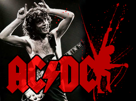 Angus Young Wallpaper by Fangschrecke