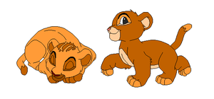 Lion Cubs for Earthbound-Hippie by poppygirl36