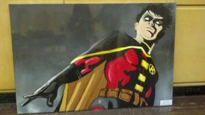 Tim Drake as Robin by BoppleOid