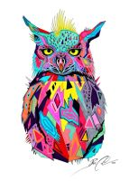 Abstract Owl -on sale- by PixieCold
