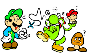 Yoshi be Dizzy and Mama Luigi by JamesmanTheRegenold