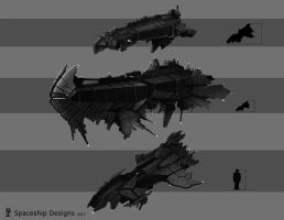 Spaceship concepts by Akiman
