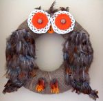 Fall Owl Wreath by Lionsong