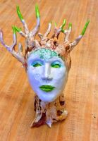 Tree woman bust 2 by Fire-Redhead