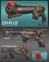 Commission: Dartgun Concept by aiyeahhs