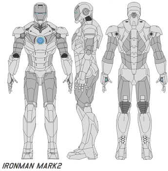 ironman mark 2 armor by bagera3005