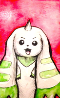 :ACEO: Terriermon by Self-Eff4cing