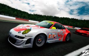 Porsche 997 GT3 RSR at Spa by ZowLe