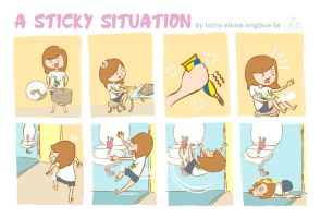 A Sticky Situation by juzagirl
