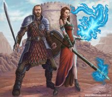 warrior and sorceress by BrentWoodside