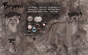 Bryoni Reference sheet by BeeStarART