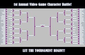 64 Video Game Character Battle Tournament by JoshawaFrost