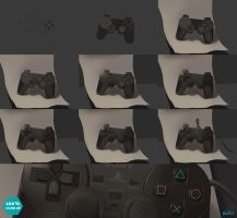 Steps Playstation Controller life study by teyoliia