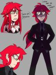 Grell doodles by Nomidot
