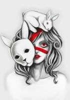 The white Hare by SoLe-Art