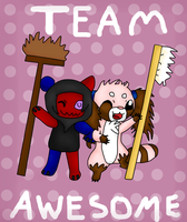 TEAM AWESOME :D by Phewmonster