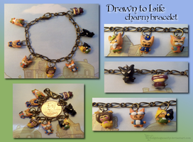 Drawn To Life Charm Bracelet by Hedgehogscanfly