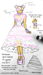 Sweet Pink Rose Dress (Sketch) by thelettergii