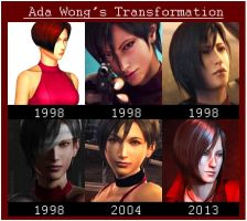 Ada Wong Transformation by BlacknessAffection
