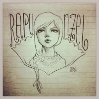 Rapunzel Sketch Diary by sahdesign