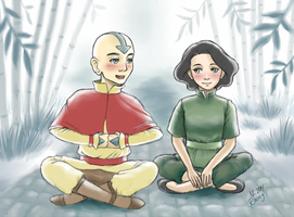 Innocence - Young Tenzin and Lin by Rhoey