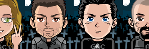 The GAC squad-Aura, Nick, Zak and Aaron by airbender01