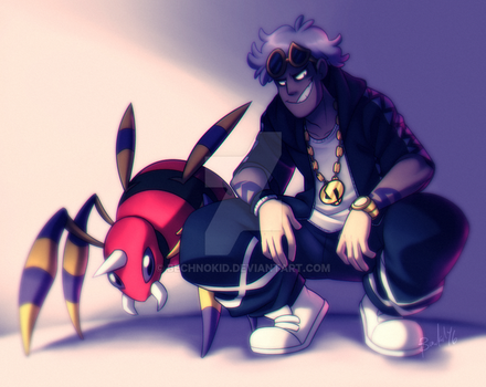 PKMN: Destruction in Human Form and his Spider Pal by BechnoKid